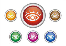 Eyes button icon Stock Photography