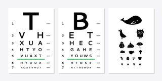 eyes a carta de teste ilustração do vetor