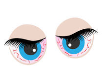 Eyes cartoon icon. Royalty Free Stock Photography