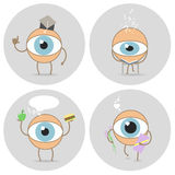 Eyes cartoon icon  Reads, scientist, love glance, food for the e. Eyes cartoon icon. Reads, scientist, love glance, food for the eyes. Vector Stock Photo