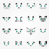 Eyes Cat. Icon  Logo for decoration artwork - Vector Stock Photos