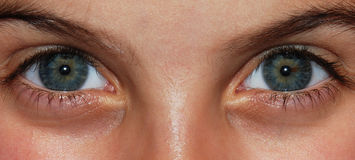 Eyes of a child. Eyes of a female child Royalty Free Stock Photography