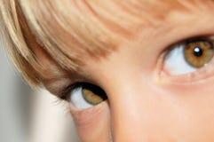 Eyes of a child stock photos