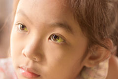 Eyes of a Child, Look out. Royalty Free Stock Photos