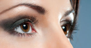 Eyes close-up with make up Royalty Free Stock Photos