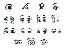 Eyes a coleção Imagens de Stock Royalty Free