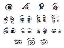 Eyes collection. Cartoon vector illustration of an eyes collection Royalty Free Stock Images