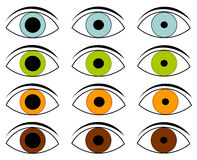 Eyes collection Royalty Free Stock Photo