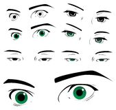 Eyes collection Stock Image