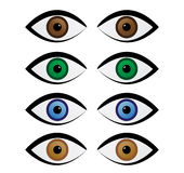 Sets of Colorful Eyes Royalty Free Stock Image