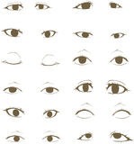 Eyes. Collection, created by vector Royalty Free Stock Photography