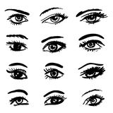 Eyes collection royalty free illustration