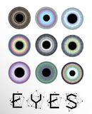 Eyes collection, human pupil royalty free illustration