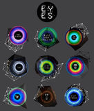 Eyes collection, human pupil Stock Photography