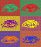 Eyes in complementary colors. Vector illustration of eyes in complementary colors Stock Photos