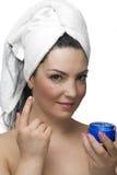 Eyes cream stock images