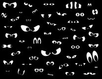 Eyes in the dark. Over fifty different shapes of eyes in the dark Royalty Free Stock Photo