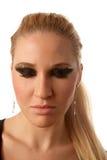 eyes den rökiga flickan Fotografering för Bildbyråer