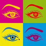 Eyes design. Over colorful background vector illustration Royalty Free Stock Photography