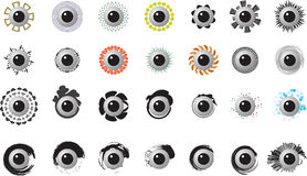 Eyes with difference pattern and sharp Stock Image