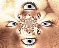 Eyes. Digital Illustration of kaleidoscopic Eyes Stock Photos