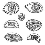 Eyes drawing Stock Image