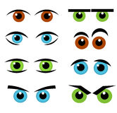 Eyes emotion collection Stock Photos