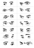 Eyes with emotions2. Different gestures and emotions of a eyes Royalty Free Stock Photo