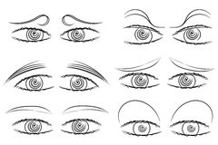 Eyes expressions Royalty Free Stock Image