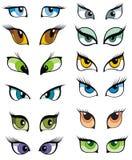 Eyes and eye icon set Royalty Free Stock Images