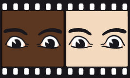 Eyes on film (vector) Royalty Free Stock Photography