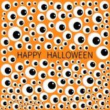 Eyes frame. Eyeball apple set. Happy Halloween baby card. Spooky orange funny background. Flat design. Vector illustration vector illustration