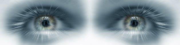 eyes framtida vision arkivbilder