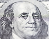 The eyes of Franklin Stock Photography
