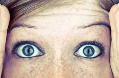 Eyes full of fear Royalty Free Stock Image