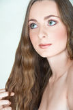 eyes girl green hair long Στοκ Εικόνες