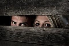 Eyes girls and boys Stock Images