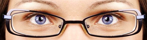 Eyes and glasses Stock Photo