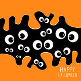 Eyes Halloween card. Spooky background Flat design. Royalty Free Stock Photos