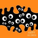 Eyes Halloween card. Spooky background Flat design. Royalty Free Stock Photos