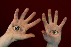 Eyes on Hands Monster Royalty Free Stock Photos