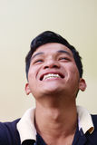 Eyes of happy young asian man looking at camera Royalty Free Stock Image
