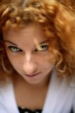 Eyes of a happy young redhead woman Royalty Free Stock Photos
