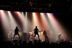 The Eyes, heavy metal band, live music show at Razzmatazz stage Stock Photography