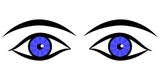 eyes humanen stock illustrationer