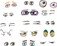 Eyes I. Set of 15 various forward-angle human and fantasy eyes for all uses Royalty Free Stock Photography