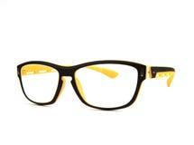 Eyes i vetri su priorità bassa bianca con l'indicatore luminoso dello studio Immagine Stock Libera da Diritti