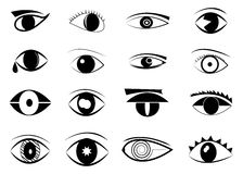 Eyes Icon Set Stock Photos