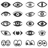 Eyes icon set Stock Images