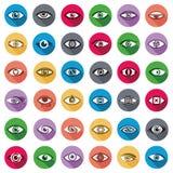 Eyes iconos Imágenes de archivo libres de regalías
